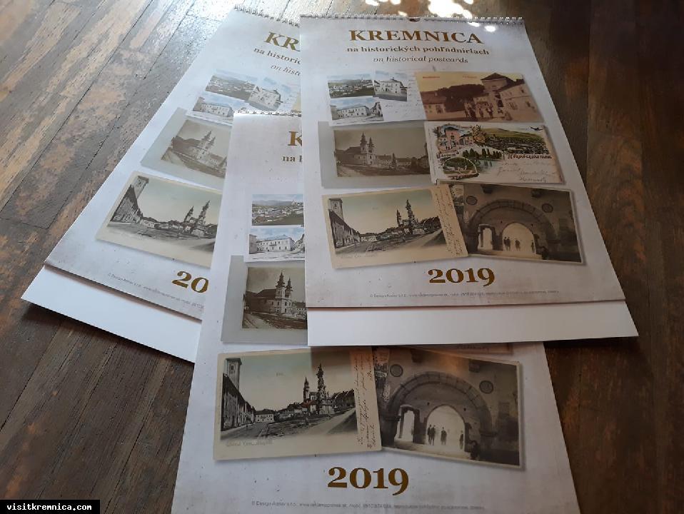 Nástenný kalendár KREMNICA NA HISTORICKÝCH POHĽADNICIACH na rok 2019 už v predaji