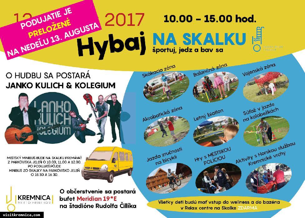 POZOR ZMENA TERMÍNU!!! Hybaj na Skalku 2017, 13.08.2017