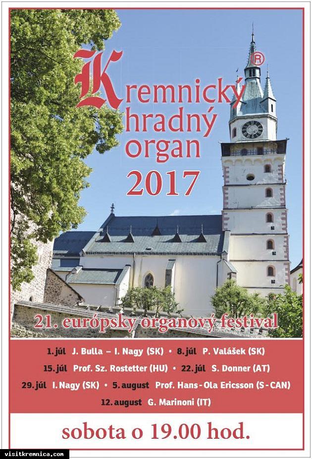 Kremnický hradný organ 2017