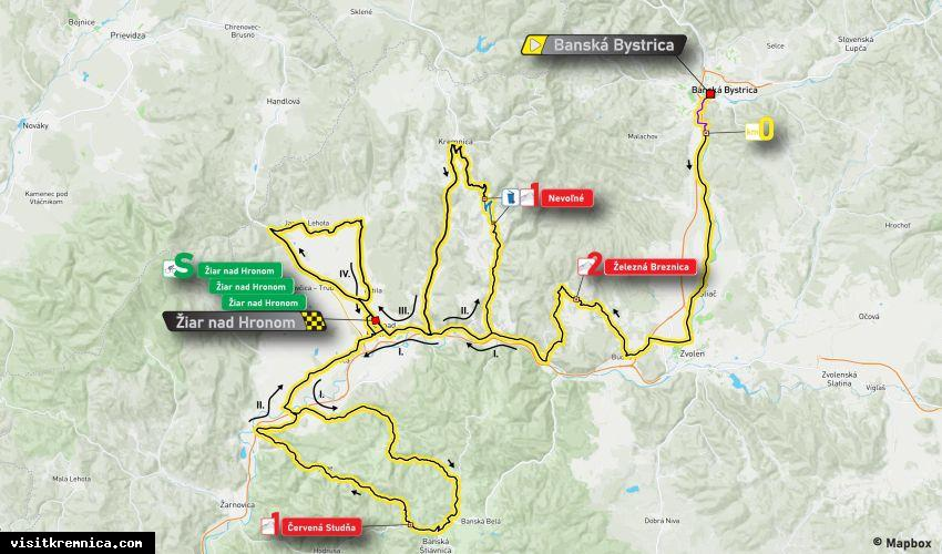 3. etapa Okolo Slovenska povedie cez Kremnicu